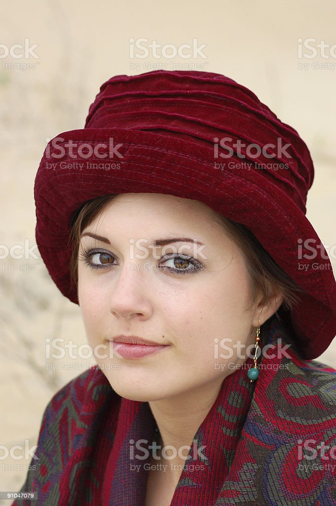 Mysterious in a Hat royalty-free stock photo