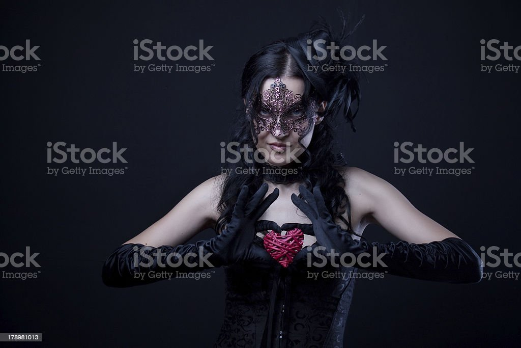 Mysterious lady royalty-free stock photo