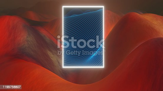512407584 istock photo Mysterious light figure hovering over a Martian landscape 1199758807
