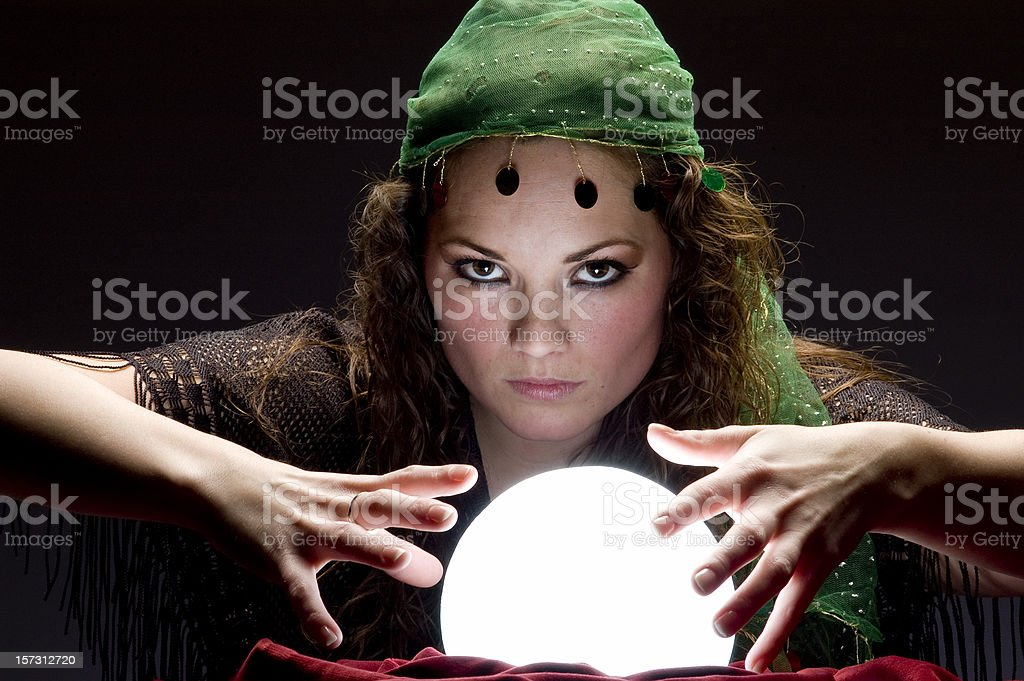 mysterious looking fortune teller royalty-free stock photo