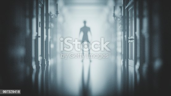 Mysterious man at the end of the hall.