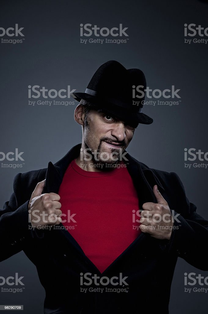 Misterioso Ritratto di uomo retrò foto stock royalty-free