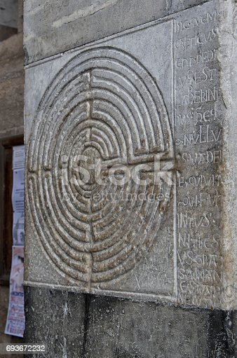 857874170 istock photo Mysterious maze carved in stone 693672232