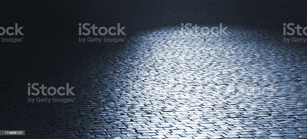 mysterious night in old city royalty-free stock photo