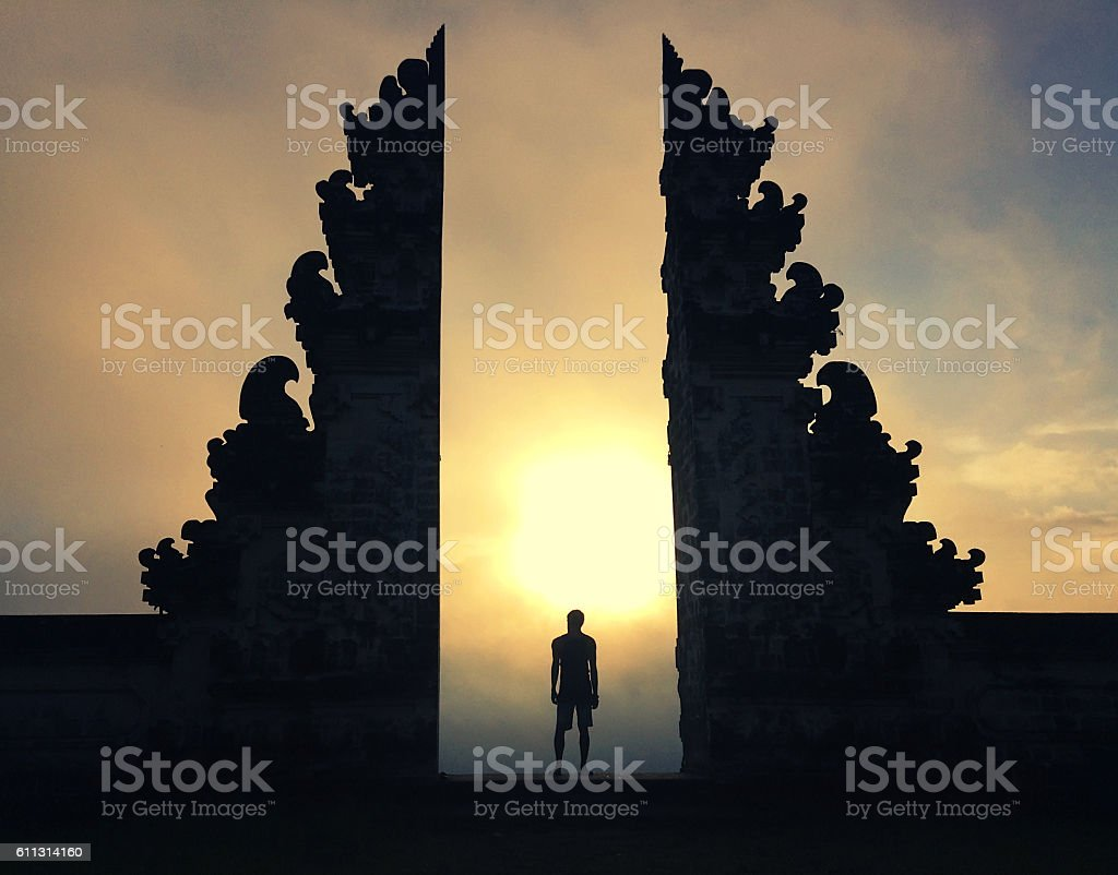 Mysterious portal stock photo