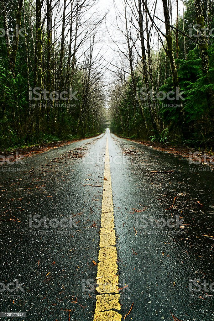 mysterious road stock photo