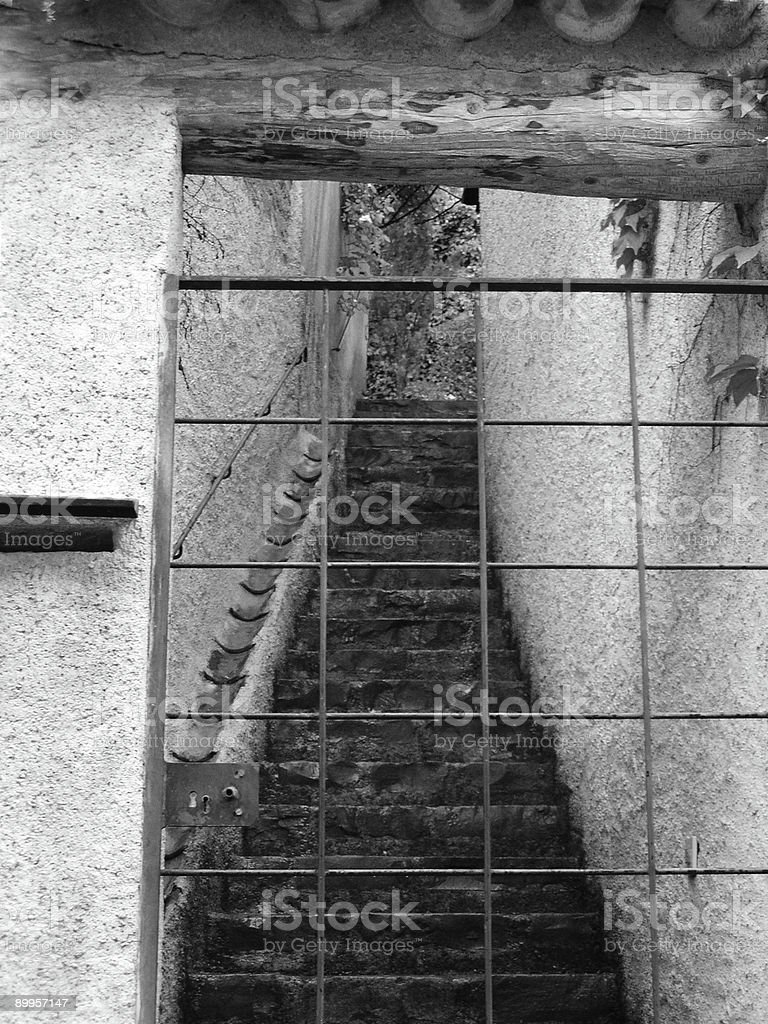 mysterious stairs stock photo
