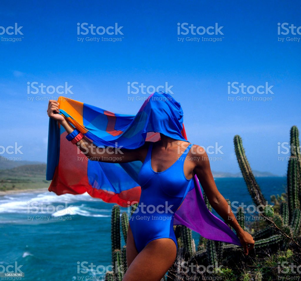 mysterious swimmer stock photo