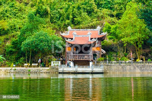Mysterious Temple of Trang An Scenic Landscape in Ninh Binh, Vietnam