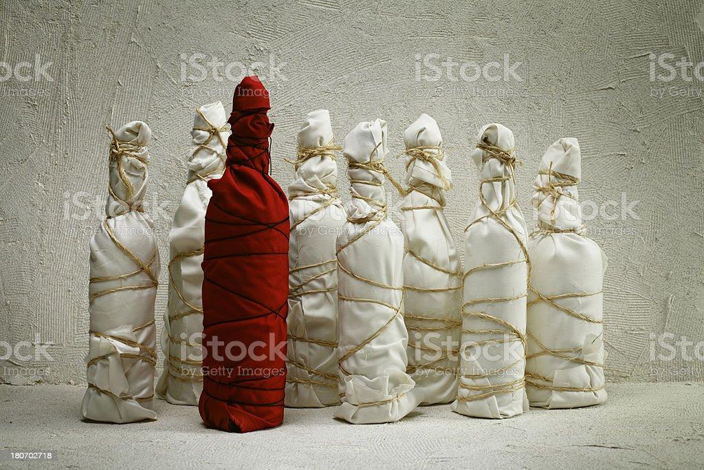 Mystery Bottles royalty-free stock photo