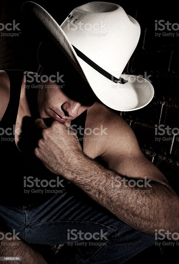 Mystery Cowboy royalty-free stock photo