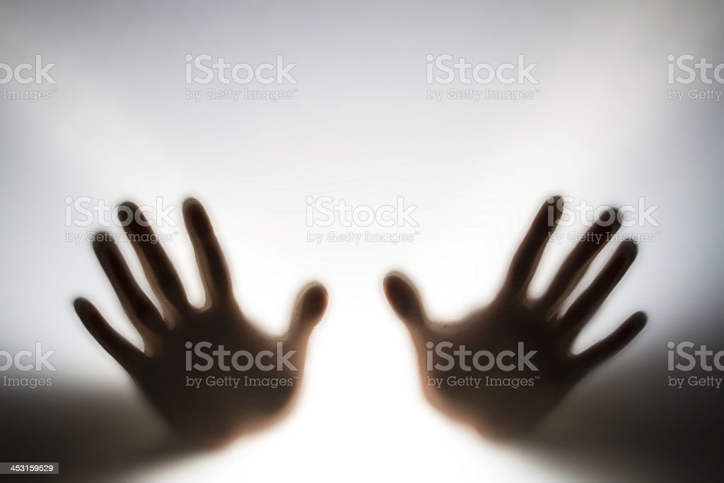 Mystery hands royalty-free stock photo