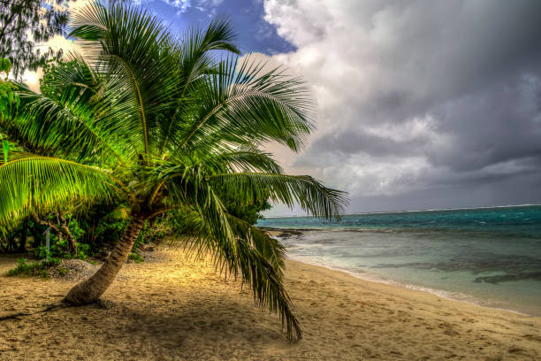 Mystery Island, Vanuatu stock photo