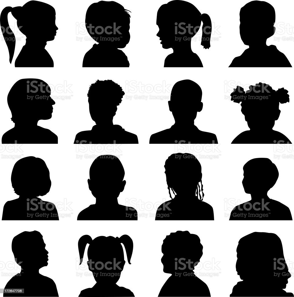 Mystery Kids Silhouette stock photo