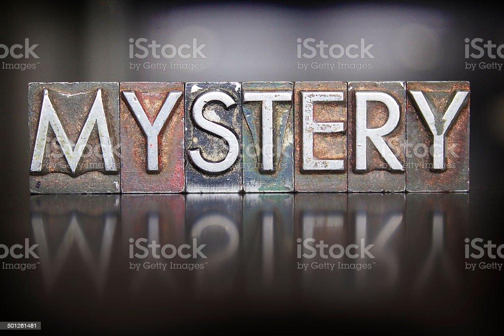 Mystery Letterpress stock photo