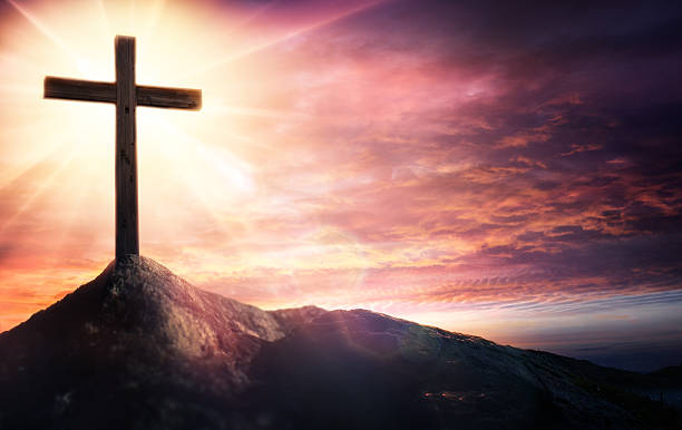 mystery of the crucifix - symbol of faith - cross stock photos and pictures