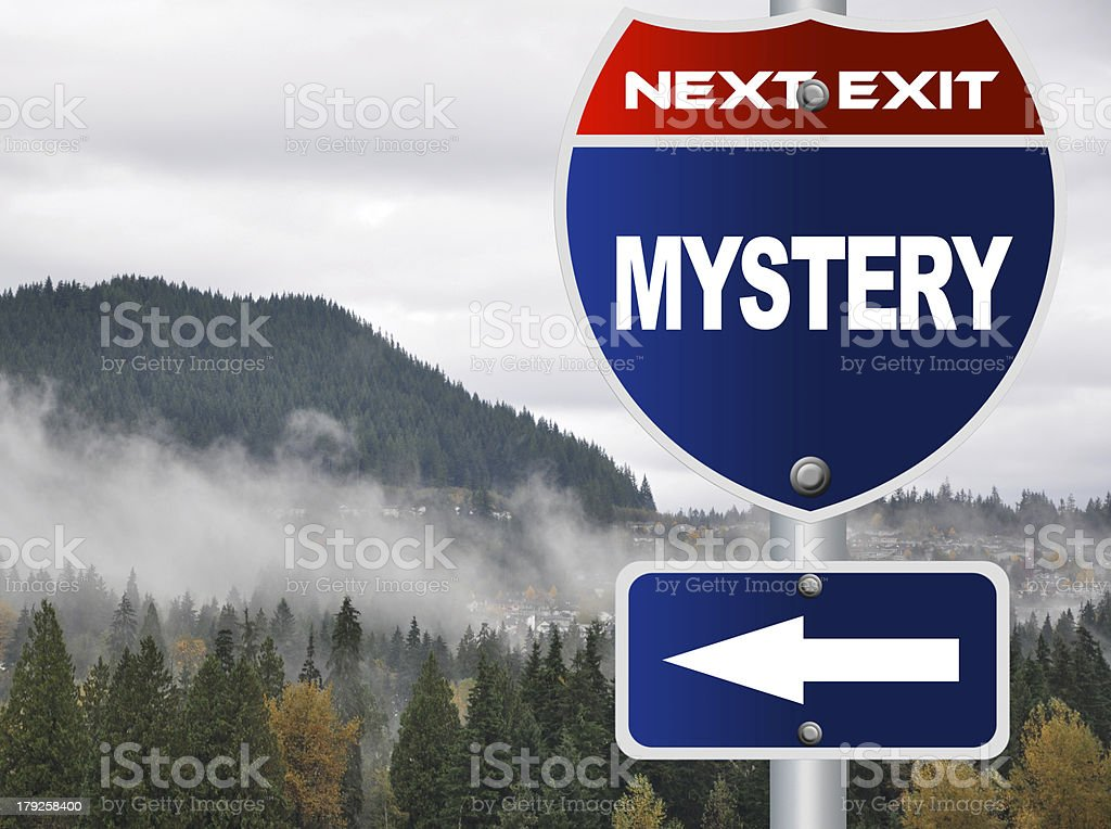 Mystery road sign royalty-free stock photo