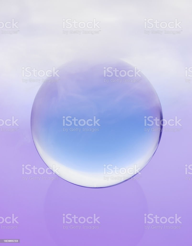 Mystic Blue Crystal ball with swirling fog royalty-free stock photo