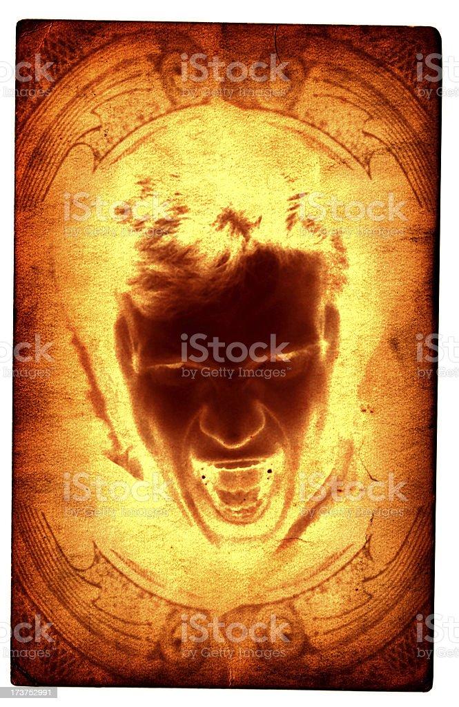 Mystic Card - Demon Rage royalty-free stock photo