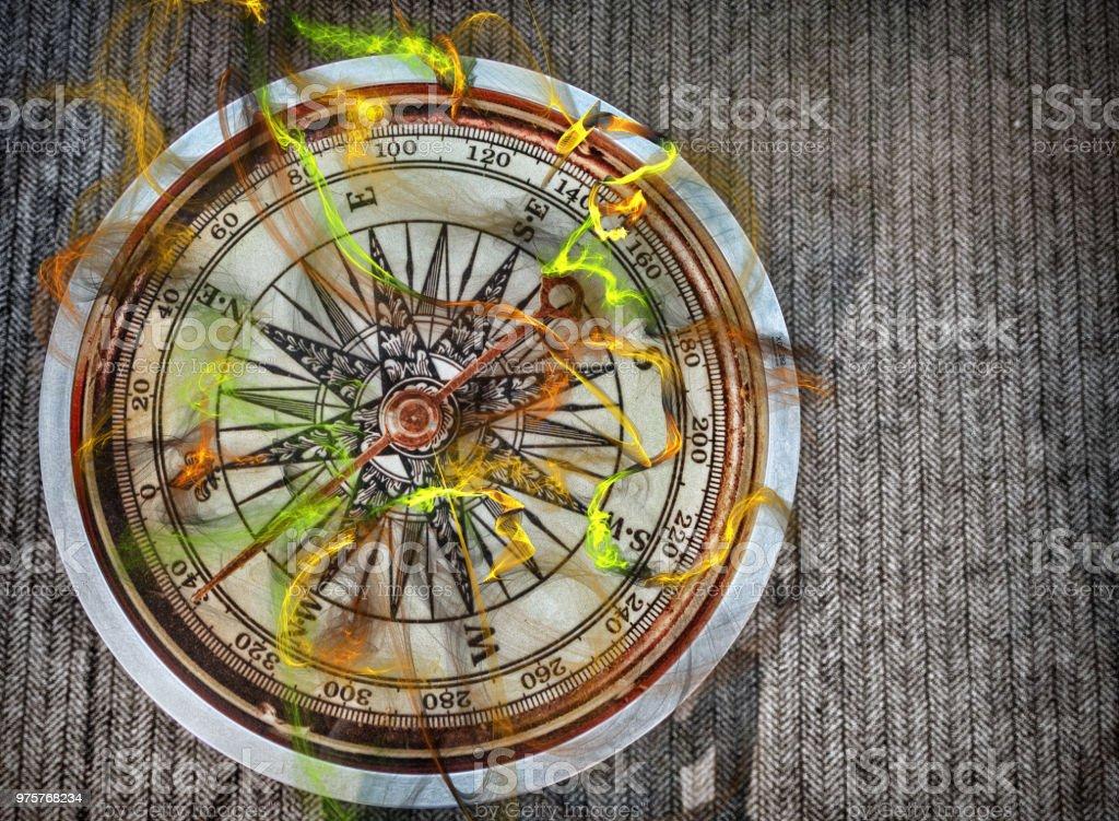 Mystic Compass - Lizenzfrei Astrologie Stock-Foto