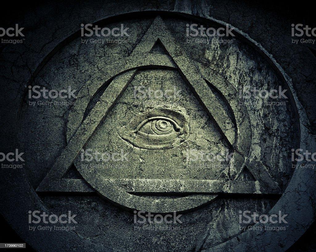 Mystic eye symbol with interlocking circle and triangle stock photo mystic eye symbol with interlocking circle and triangle royalty free stock photo buycottarizona Image collections