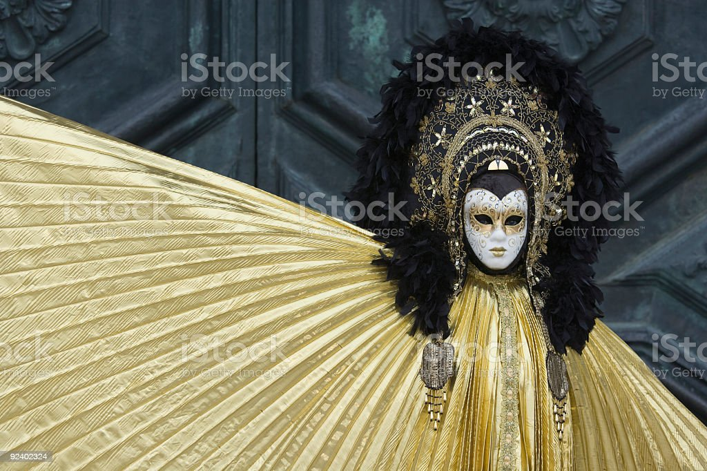 Mystic female mask at Carnival in Venice (XXL) royalty-free stock photo