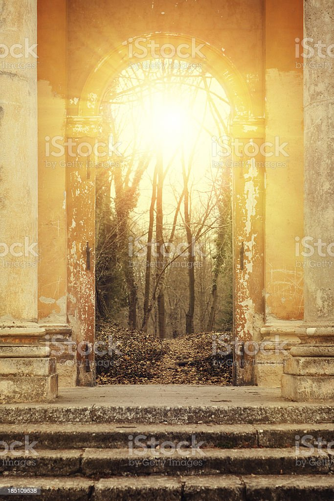 mystic gate stock photo