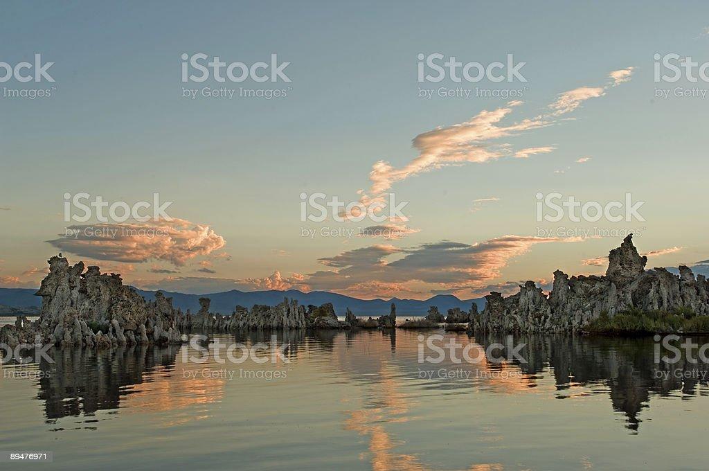 Mystic lake stock photo