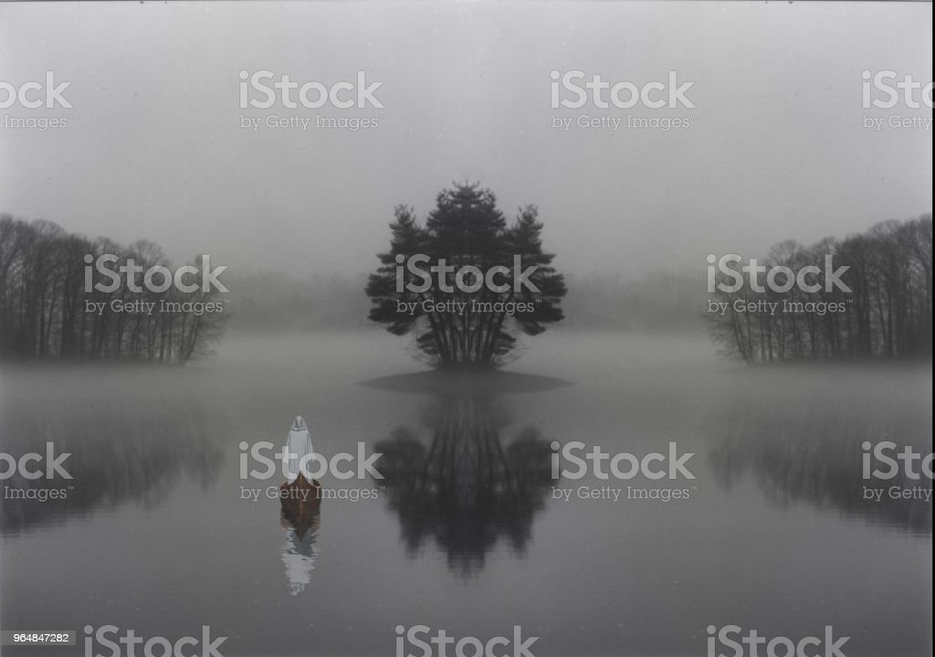 Mystic lake royalty-free stock photo