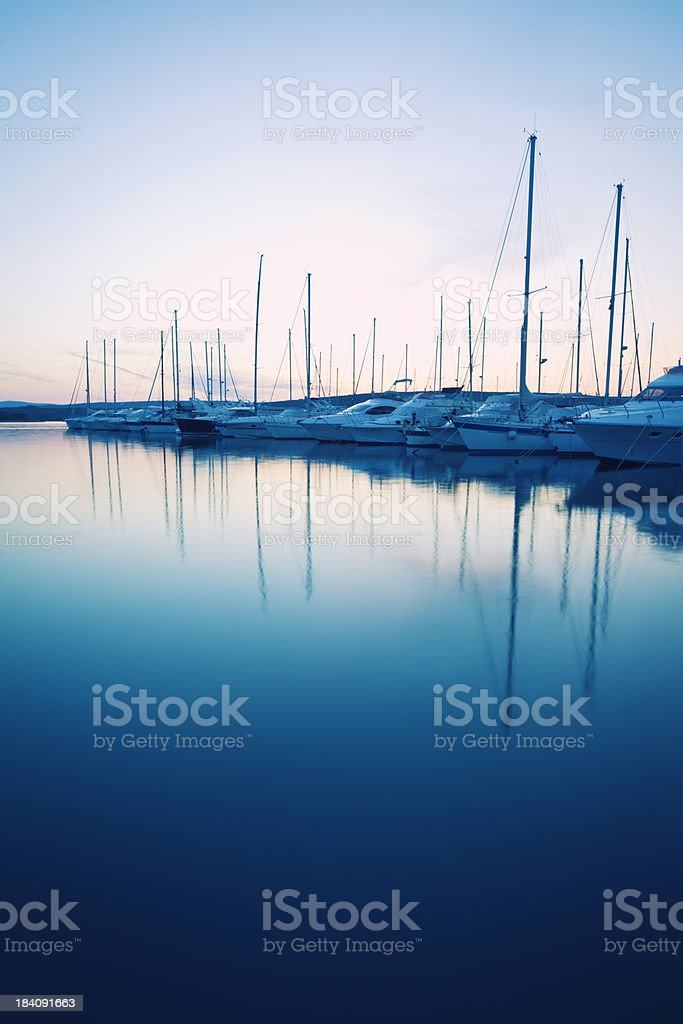mystic marina royalty-free stock photo