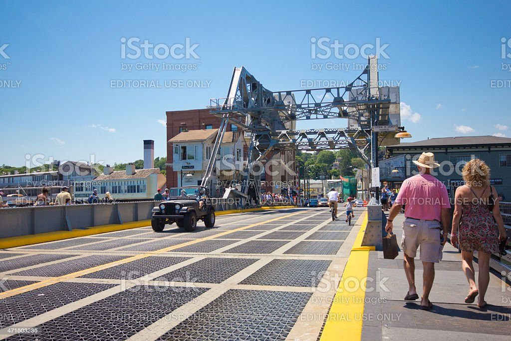 Mystic River Bascule Bridge royalty-free stock photo