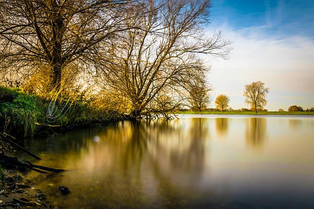 Mystic River stock photo