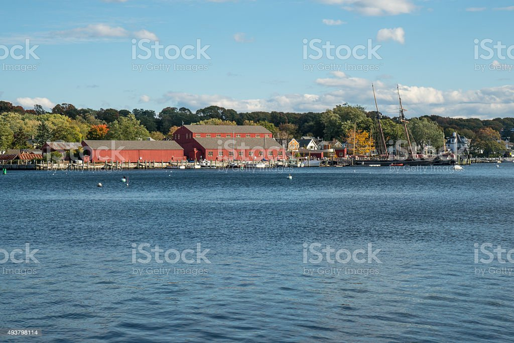Mystic Seaport, Connecticut royalty-free stock photo