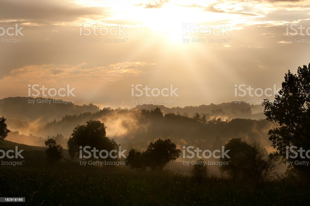 Mystic sunset royalty-free stock photo