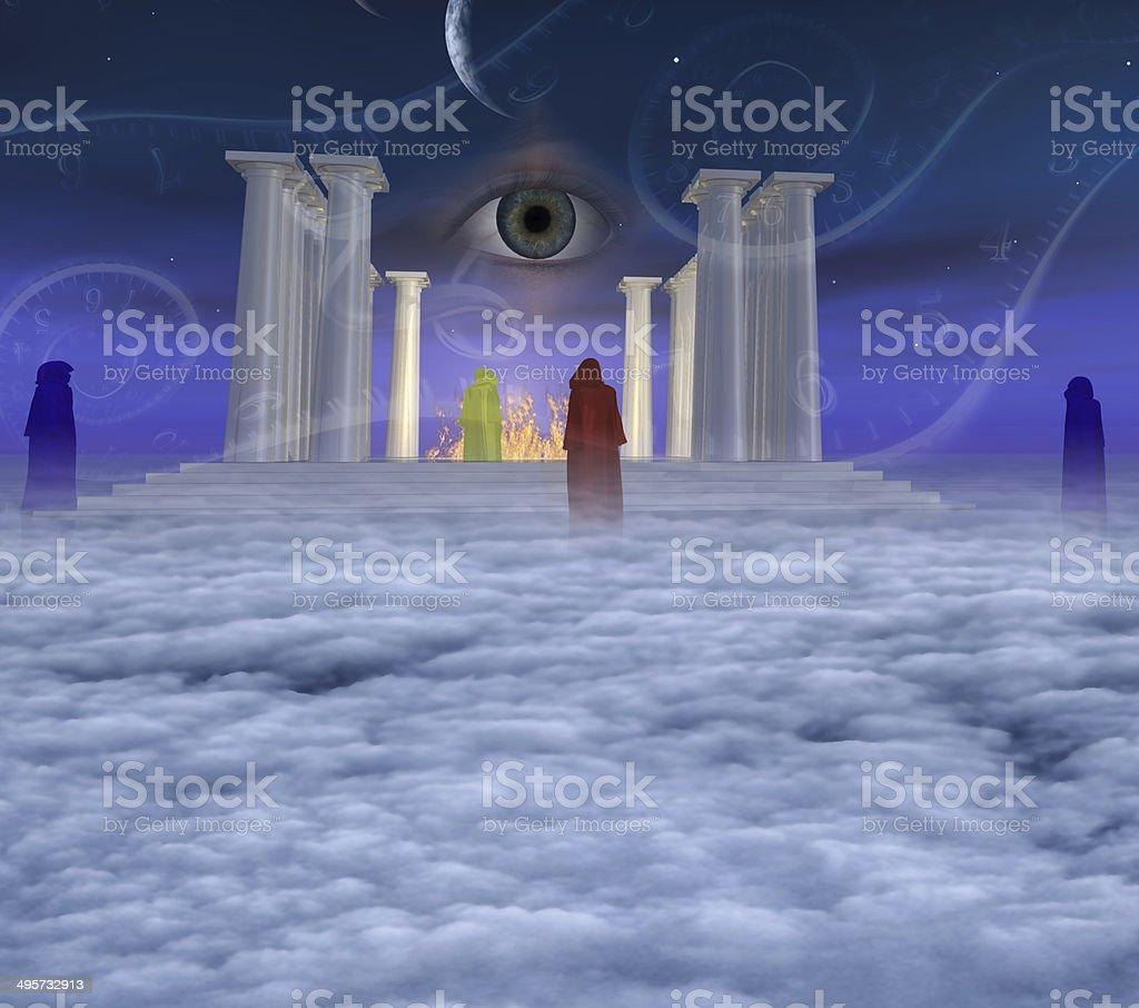 Mystic Temple stock photo