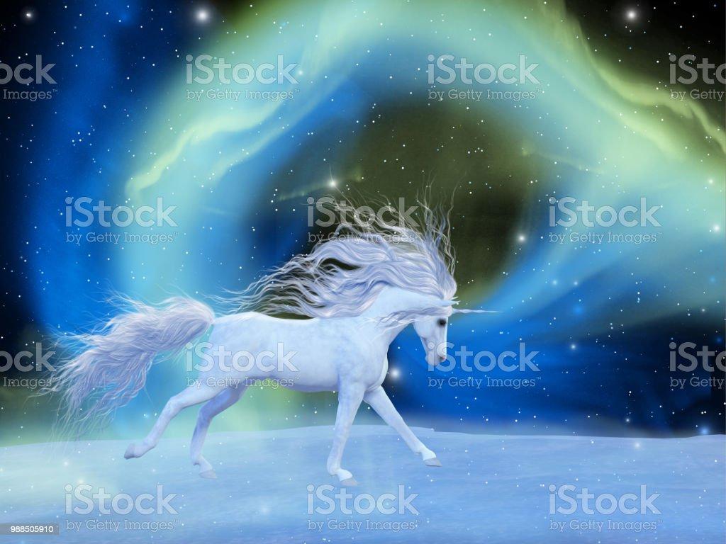 Mystic Unicorn stock photo