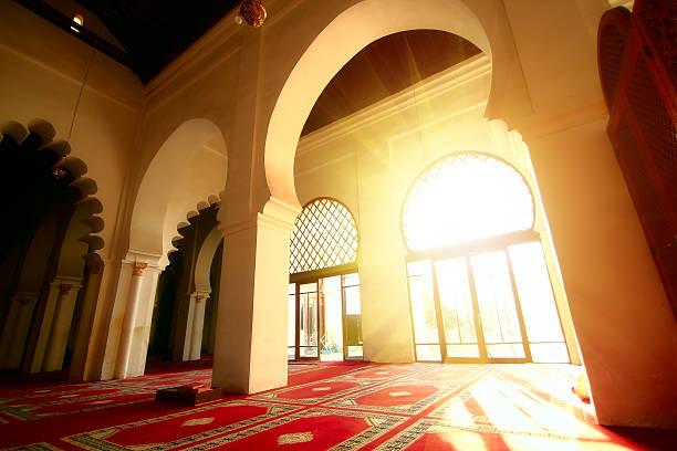 Mystic view of Koutoubia mosque stock photo