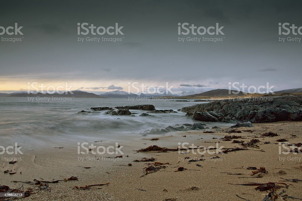 Mystic Waves - Isle of Harris stock photo