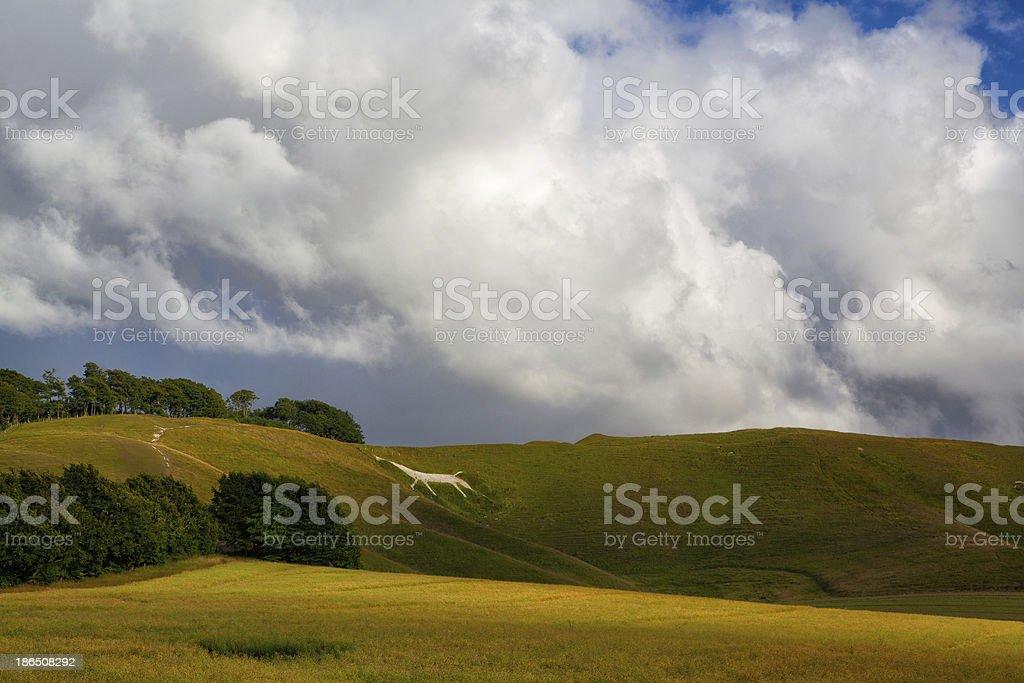Mystic White Horse near Avebury royalty-free stock photo