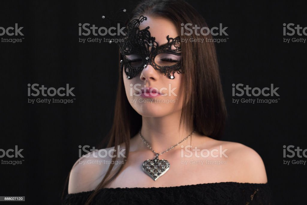 Mystic woman in mask