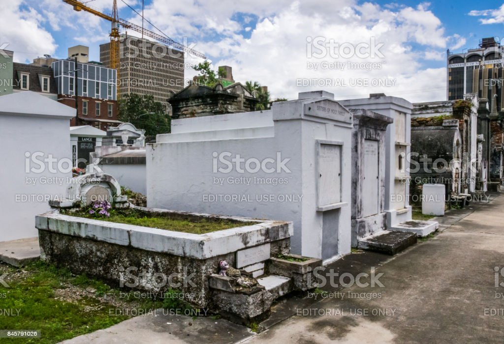 Mystical ancient cemetery of St. Louis. The tourist attraction of New Orleans. Louisiana, United States