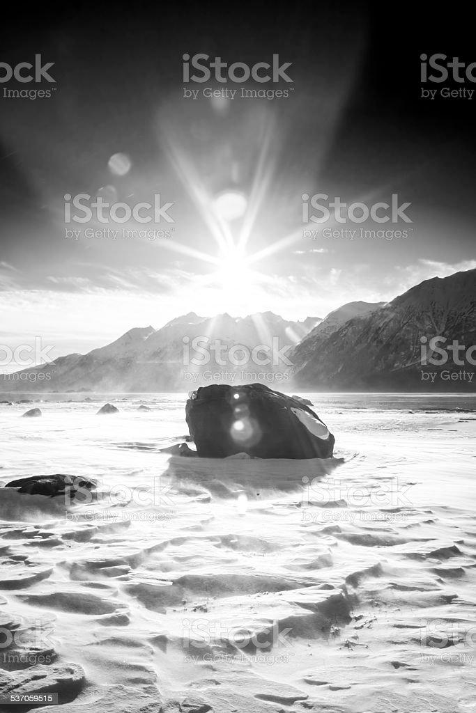 Mystical Beach Apparition stock photo