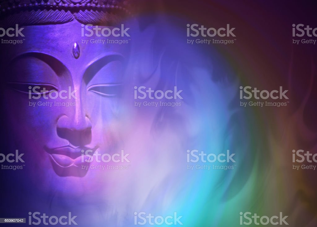 Mystical Buddha Background stock photo