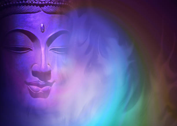 mystical buddha background - buddha stock photos and pictures
