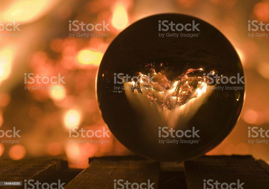mystical crystal ball stock photo
