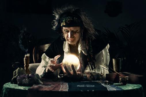 Mystical Gypsy and Crystal Ball