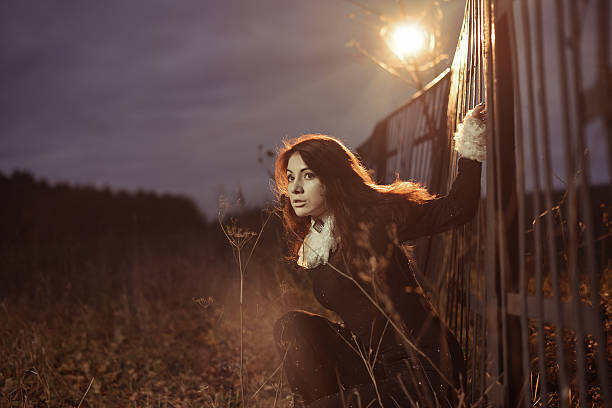 mystical lady stock photo