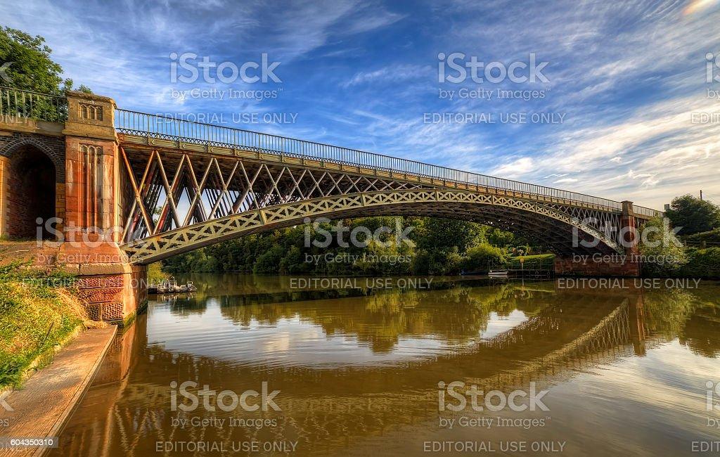 Mythe bridge stock photo