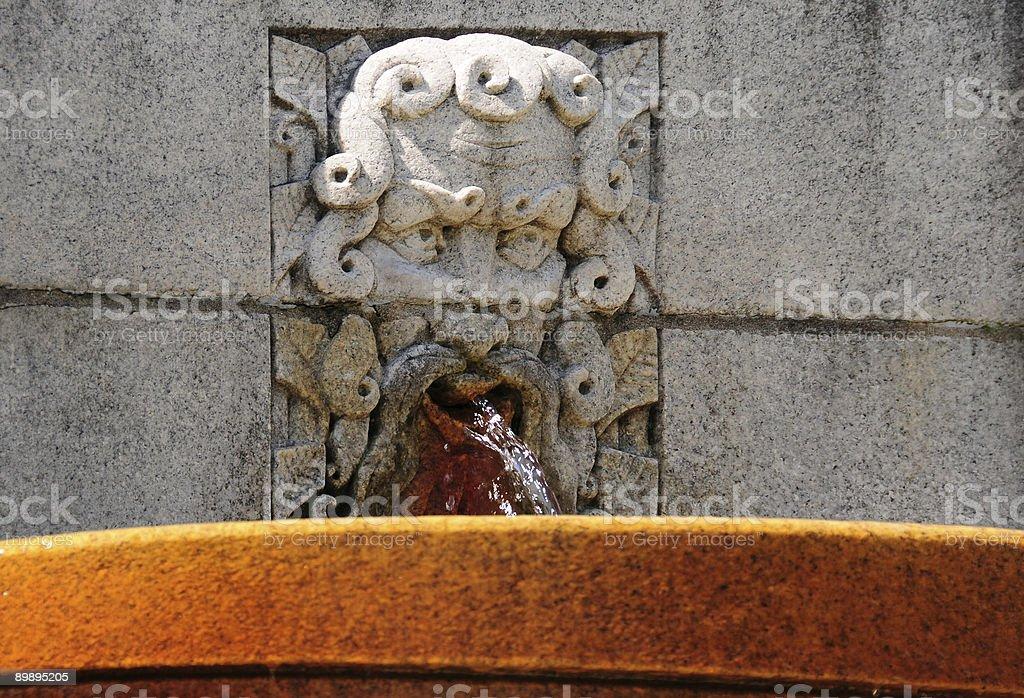 Mythological fountain royalty-free stock photo