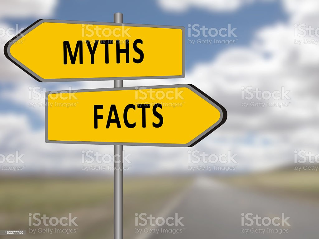 Myths or Facts Concept stock photo